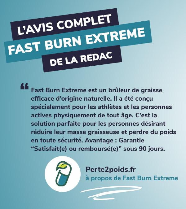 avis fast burn extreme