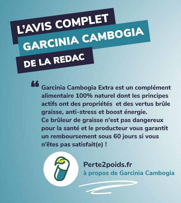avis Garcinia Cambogia