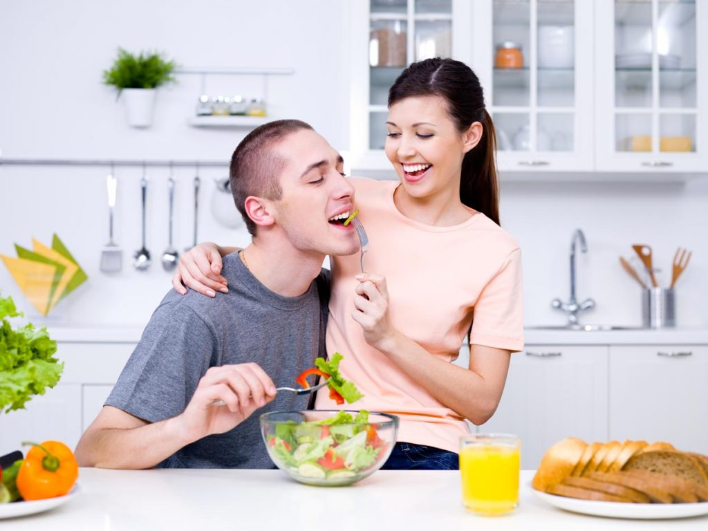 couple alimentation saine