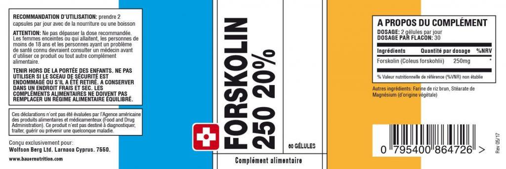 Composition Forskolin 250