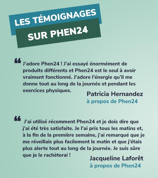 phen24 témoignage